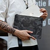 雙12購物節   男包手包男歐美時尚大容量手抓包多功能手拿包迷彩男士信封包潮   mandyc衣間