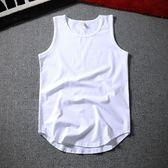 (交換禮物 創意)聖誕-背心 無袖背心坎肩中長款寬鬆t恤沙灘健身運動籃球背心