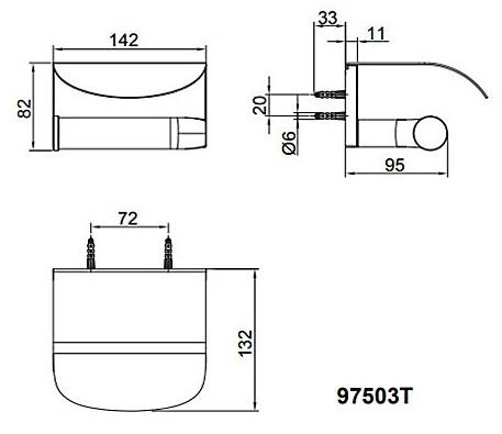 【 麗室衛浴】美國 KOHLER AVID 有蓋廁紙架/衛生紙架 K-97503T-TT 鈦空銀