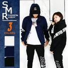 外套-韓英文字潮夾克-街潮情侶穿搭款《004Z02》白色.藍色.黑色【現貨+預購】『SMR』