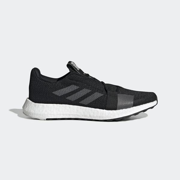 ADIDAS SENSEBOOST GO M [F33908] 男鞋 運動 慢跑 休閒 避震 透氣 健身 愛迪達 黑灰