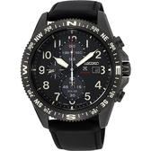 SEIKO精工 PROSPEX 太陽能計時手錶-黑/44mm V176-0BB0SD(SSC707P1)