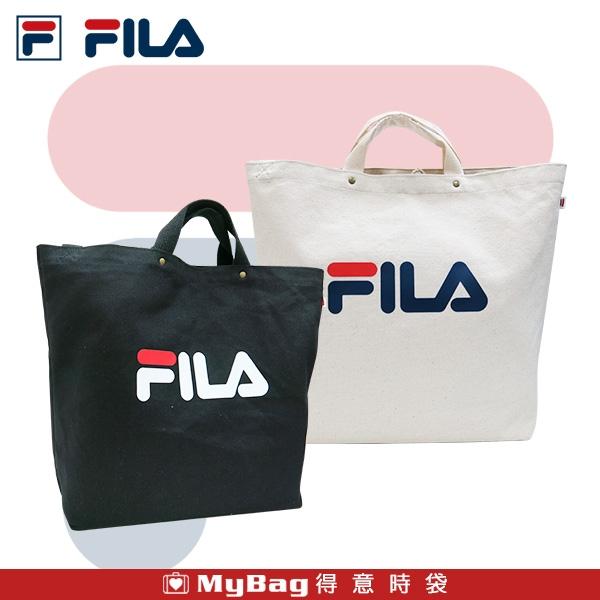 FILA 側背包 LOGO 休閒帆布包 手提袋 兩用包 肩背包 BMU-9009 得意時袋