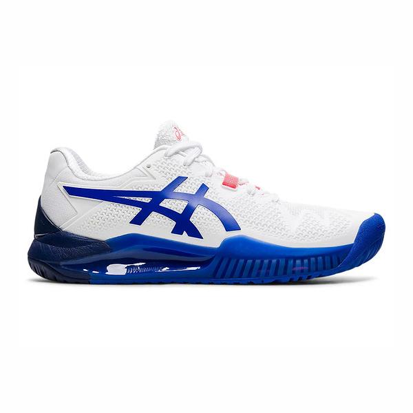 Asics Resolution 系列 [1042A097-107] 男女鞋 網球鞋 舒適 支撐 緩震 亞瑟士 白 藍