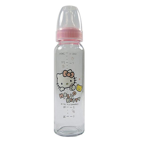 Hello Kitty 標準口徑晶鑽玻璃奶瓶240ml