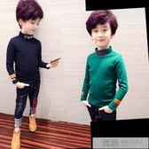 男童高領打底衫秋冬新款加厚兒童長袖t恤中大童男孩加絨上衣 韓慕精品