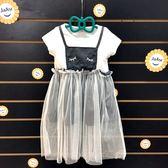☆棒棒糖童裝☆(30194)夏女童甜美假2件紗裙洋裝 5-15
