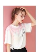 設計感白色短袖T恤女夏季2020年新款韓版寬鬆半袖小心機上衣ins潮