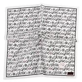 CLATHAS滿版字母印花純綿帕領巾(白色)989265-17