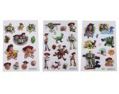 【卡漫城】 玩具總動員 立體 貼紙 三張組 ㊣版 透明 3D Toy Story 胡迪 巴斯光年 翠絲 爆爆龍 三眼怪