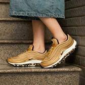 【現貨折卷後4380】NIKE Wmns Air Max 97 OG 金色 反光 子彈列車 復古 慢跑鞋 女鞋 885691-700