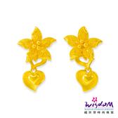 威世登 黃金花型垂吊耳環 金重約1.77~1.79錢(含黃金耳束) 送禮推薦 生日 情人節 GJ00173F-FXX-EHX