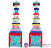 【大堂人本】JY11- 木柱方形五層全飲料罐頭塔(242瓶)