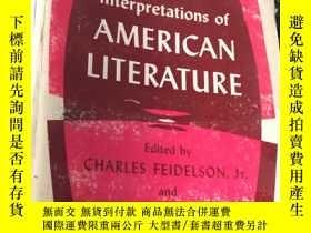 二手書博民逛書店Interpretions罕見of AMERICAN LITERATURE (平裝)Y5834 CHARLES