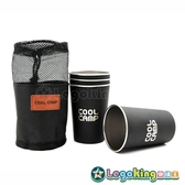 【樂購王】登山露營《不鏽鋼杯組-四入(附收納袋)》不銹鋼 水杯 飲料杯 茶杯 登山便攜【B0782】