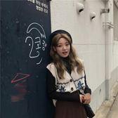 V領無袖毛衣背心女馬夾2018秋季韓版學院風復古寬鬆針織馬甲開衫