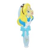 小禮堂 迪士尼 愛麗絲 造型塑膠手握梳 直梳 塑膠梳 (藍黃 抬頭) 4548387-15716
