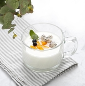 早餐杯玻璃杯子帶把燕麥杯透明牛奶杯