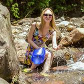 ◄ 生活家精品 ►【P297】多功能防水磨砂袋(15L) 專業漂流袋 單背 戶外 收納袋 旅遊 玩水