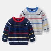 彩虹線條針織毛衣 針織毛衣 線衫 針織衫 毛衣 童裝 男童 橘魔法 現貨 兒童