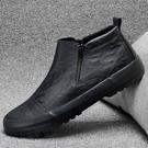 43碼/黑色 男靴子 馬丁靴 秋冬休閒皮...