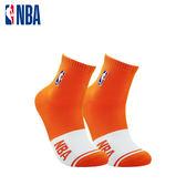 NBA 平版襪 MIT 運動配件 LogoMan色塊刺繡短襪 (橘/白)