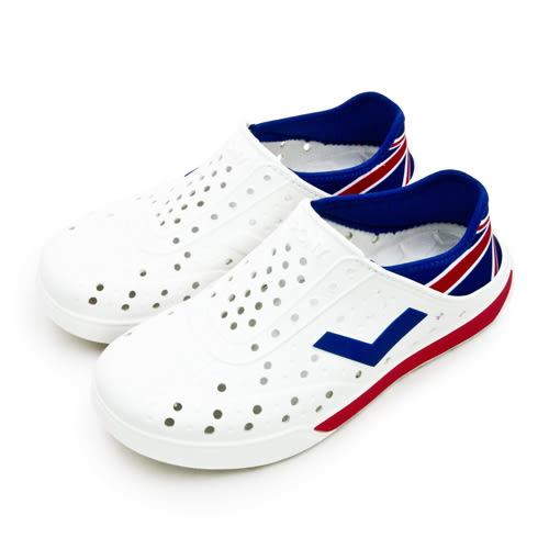 LIKA夢 PONY 防水輕量透氣 ENJOY 世足賽洞洞休閒鞋 英格蘭 白藍紅 82U1SA74OW 男