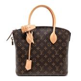 【台中米蘭站】Louis Vuitton 經典Monogram帆布LOCK IT PM手提包 (M40613-咖)