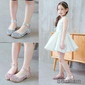 女童皮鞋高跟公主鞋春秋女童鞋