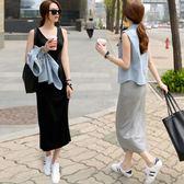 洋裝- 無袖吊帶長款背心裙無袖洋裝【轉角1號】