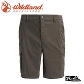 【Wildland 荒野 男 彈性透氣抗UV短褲《深墨綠》】0A71392/休閒褲/吸濕排汗/抗紫外線/登山/旅遊