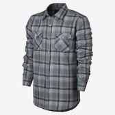 Hurley X NIKE DRI-FIT科技 - BAILEY LONG SLEEVE 長袖襯衫 -男(科技灰格紋)