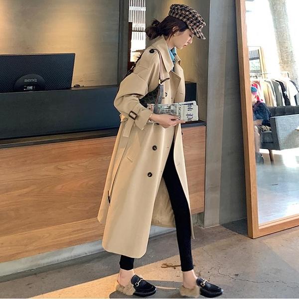 風衣 三十而已經典氣質風衣女2020新中長款韓版寬松小個子流行大衣外套