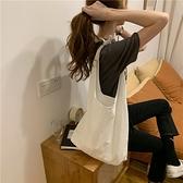 購物包 包包2021新款清新單肩包手提購物袋文藝女學生布袋環保袋薄款【快速出貨八折下殺】