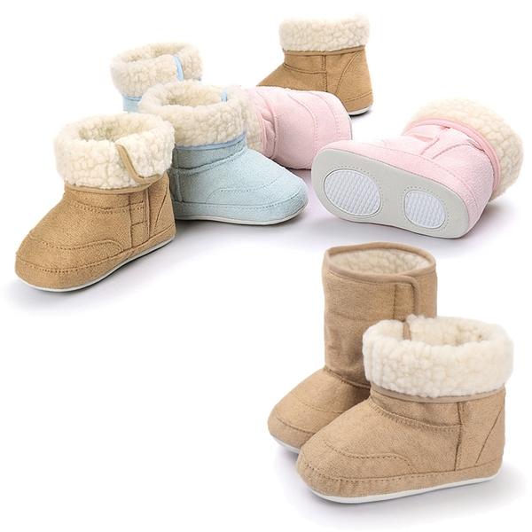 寶寶鞋 保暖刷毛 寶寶雪靴 仿麂皮軟底羊羔絨 防滑嬰兒學步鞋 (11-13cm) MIY0084