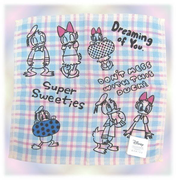 【波克貓哈日網】迪士尼小方巾◇唐老鴨黛西◇《 25 x 25cm》