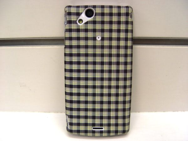 {新安} 出清有瑕疵恕不退換 Sony Ericsson Xperia ARC/ARC S/LT18i/LT15i 原廠 保護殼 手機殼 硬殼 (方格子)