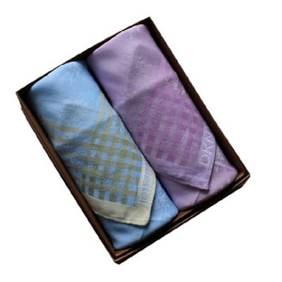 手帕禮盒 純棉方巾(兩件套)-商務時尚簡約嚴選男配件3色73gd1[時尚巴黎]