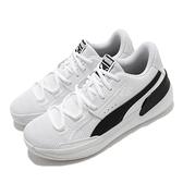 Puma 籃球鞋 Clyde Hardwood Team 白 黑 男鞋 低筒 運動鞋 【ACS】 19445401