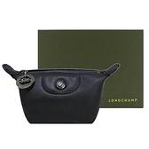 【南紡購物中心】LONGCHAMP LE PLIAGE CUIR系列小羊皮水餃零錢包(黑)