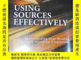 二手書博民逛書店Using罕見Sources Effectively: Strengthening Your Writing an