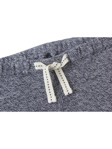 Gap 嬰兒男嬰 布萊納小熊刺繡系列舒適混色抽繩鬆緊腰長褲 473848-海軍藍色