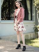 秋裝上市[H2O]泡泡袖縫珠裝飾連帽棉感針織外套 - 水藍/灰/粉色 #8661006