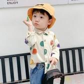 寶寶襯衣嬰兒圓點長袖上衣兒童上衣男童襯衫【聚可愛】
