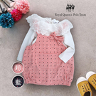 嬰幼童秋冬款蕾絲領上衣+點點吊帶裙兩件組 * 2色/ RQ POLO  / [J56028-1]