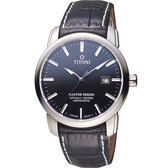 TITONI Master Series 天文台認證機械腕錶 83188S-ST-577 黑