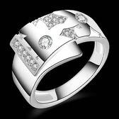 925純銀戒指 鑲鑽-氣質優美生日情人節禮物女配件73aq10【巴黎精品】