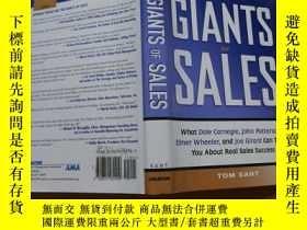 二手書博民逛書店The罕見Giants of Sales: What Dale Carnegie, John Patterson,