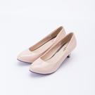 大尺碼女鞋41-48【現貨】凱莉密碼 職場正氣寬版漆皮中粗跟高跟鞋6cm【YP615】
