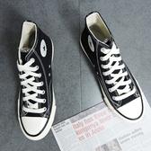 X-INGCHI 男款基本款黑色高筒帆布鞋-NO.X0013